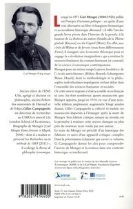 Principes d'économie politique. Précédé de Les principes de Carl Menger : une économie théorique pure et Un historique des éditions