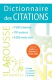 Robert Carlier et Jean-Louis Lalanne - Dictionnaire des citations.