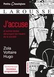 Emile Zola et  Voltaire - J'accuse et autres textes dénonçant les travers de la société.
