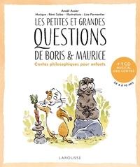 Anaël Assier et Line Parmentier - Les petites et grandes questions de Boris et Maurice - Contes philosophiques pour enfants. 1 CD audio