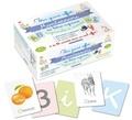 Anonyme - Mon grand coffret Montessori des lettres rugueuses et cursives - Avec 104 lettres rugueuses, 26 cartes images, 10 cartes chiffrées + 10 activités.