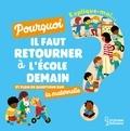 Agnès Besson et Marie-Elise Masson - Explique moi pourquoi il faut retourner à l'école demain ? - Et plein de questions sur la maternelle.