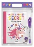 Steffie Brocoli - Mon carnet secret Lovely licornes - Avec 1 stylo à encre invisible, 1 cadenas et 1 clé.