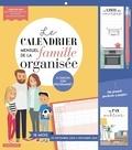Larousse - Le calendrier mensuel de la famille organisée - A chacun son programme. Avec 1 stylo et 1 pochette pour ranger les documents importants.