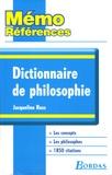 Jacqueline Russ - Dictionnaire de philosophie.