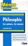 Jacqueline Russ - Philosophie - Les auteurs, les oeuvres.