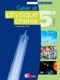 Denis Regaud et Gérard Vidal - Cahier de Physique-chimie 5e Cycle 4.