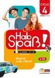 Elisabeth Lansel - Allemand Cycle 4 (5e, 4e, 3e) LV2 A1-A2 Hab Spass! Neu - Matériel audio collectif. 6 CD audio