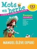 Bordas - Français CE2 Mots en herbe - Manuel de l'élève.