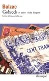 Honoré de Balzac - Gobseck et autres récits d'argent.