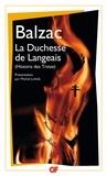 Honoré de Balzac et Michel Lichtlé - La Duchesse de Langeais - Histoire des Treize.