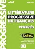 Nicole Blondeau et Ferroudja Allouache - Littérature progessive du français A1-A2 Débutant - Corrigés.