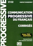 Romain Racine et Jean-Charles Schenker - Communication progressive du français - Corrigés - C1 C2 perfectionnement.