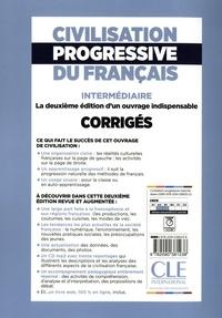 Civilisation progressive du français A2 B1 intermédiaire. Corrigés 2e édition