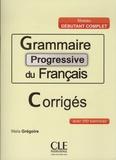 Maïa Grégoire - Grammaire progressive du français Niveau débutant complet - Avec 200 exercices corrigés.