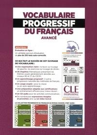Vocabulaire progressif du français avancé. Avec 390 exercices 2e édition -  avec 1 CD audio