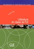 Martine Fiévet - Littérature en classe de FLE.