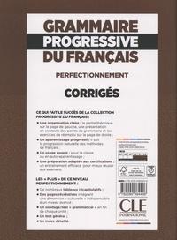 Grammaire progressive du français perfectionnement B2-C2. Corrigés avec 600 exercices