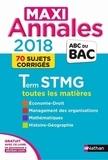 Gwenaëlle Lefebvre et Franck Levavasseur - Toutes les matières Tle STMG - 70 sujets corrigés.