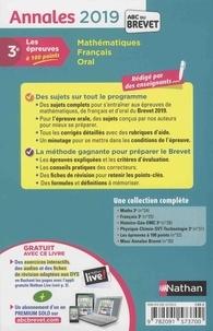 Mathématiques, Français, Oral. Sujets & corrigés  Edition 2019