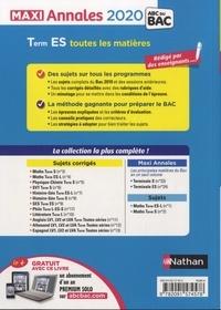 Maxi Annales BAC Tle ES  Edition 2020