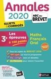 Carole Feugère et Gilles Mora - Les épreuves à 100 points 3e Mathématiques, Français, Oral - Annales - Sujets & corrigés.