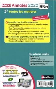 Maxi Annales 3e. Avec 100 sujets corrigés  Edition 2020