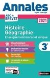 Grégoire Pralon et Laure Genet - Histoire Géographie Enseignement Moral et Civique 3e - Sujets & corrigés.