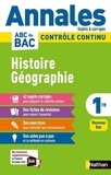 Servane Marzin et Laetitia Benbassat - Histoire Géographie 1re - Sujets & corrigés.