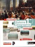 Jean-Louis Carnat et Frédéric Fouletier - Histoire Géographie EMC 1re - Voie technologique Enseignement commun.