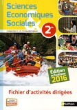 Claude-Danièle Echaudemaison - Sciences Economiques & Sociales 2de - Fichier d'activités dirigées.