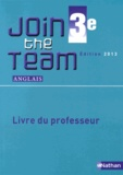 Hélène Adrian - Anglais 3e A2/B1 Join the Team - Livre du professeur.