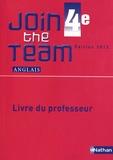 Hélène Adrian - Anglais 4e Join the Team - Livre du professeur.
