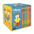 Thierry Courtin - Ma petite école T'choupi - Contient 6 livres : T'choupi découvre les lettres ; T'choupi découvre les formes ; T'choupi découvre les couleurs ; T'choupi découvre les contraires ; T'choupi découvre les chiffres ; T'choupi découvre l'anglais.