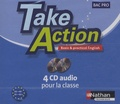 Nathan Technique - Anglais Bac Pro Take Action - 4 CD-audio.