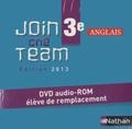 Hélène Adrian - Anglais 3e Join the Team - DVD audio-ROM élève de remplacement.