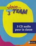Christian Gernigon et Cécile Clavel - Anglais 3e Join the Team. 3 CD audio
