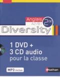 Corinne Escales et Hélène Adrian - Anglais 2e A2/B1 Diversity. 1 DVD + 3 CD audio