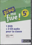 Hélène Adrian et Nathalie Airault - Anglais 5e Cycle 4 A2 Give me five!. 1 DVD + 3 CD audio