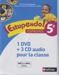 Edouard Clemente et Monique Laffite - Espagnol 5e Estupendo!. 1 DVD + 3 CD audio