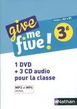 Hélène Adrian et Michel Brusson - Give me five! 3e A2>B1. 1 DVD + 3 CD audio