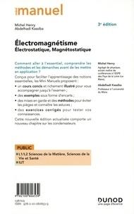 Mini manuel d'électromagnétisme. Electrostatique, Magnétostatique 3e édition