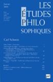 Marc Crépon et Jean-François Kervégan - Les études philosophiques N° 1, Janvier 2004 : Carl Schmitt.