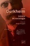 Emile Durkheim - Leçons de sociologie.