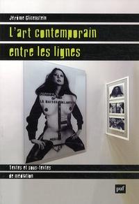 Jérôme Glicenstein - L'art contemporain entre les lignes - Textes et sous-textes de médiation.