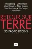Dominique Bourg et Gauthier Chapelle - Retour sur Terre - 35 propositions.
