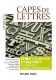 Stéphane Lelièvre et Florence Bourbon - CAPES de lettres - Epreuves orales d'admission.