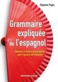 Stephan Pagès - Grammaire expliquée de l'espagnol - Eléments d'analyse grammaticale pour l'épreuve de traduction.