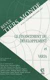 Eric Berr - Revue Tiers Monde N° 192, Octobre-Déce : Le financement du développement et varia.