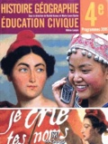Rachid Azzouz et Marie-Laure Gache - Histoire Géographie Education civique 4e - Manuel élève.